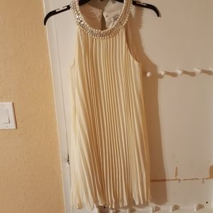 Pearl and sequin ivory dress